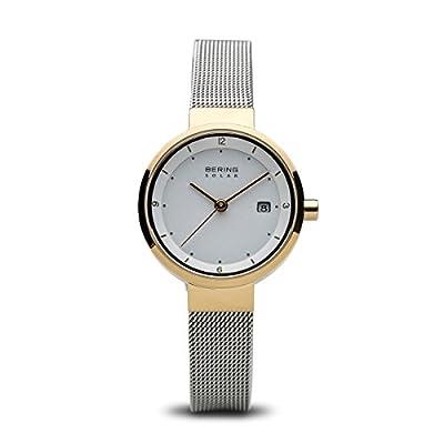Bering Solar Collection 14426-010 Reloj de Pulsera para mujeres Plano & ligero de Bering