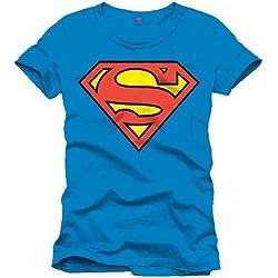 Superman Superman Logo Classique-Camiseta Hombre azul (Cobalt) XL