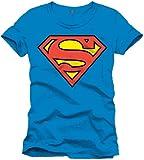 Superman Logo Classique-T-shirt Uomo Blu (Cobalt) M