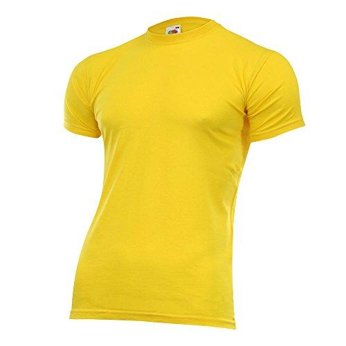 Fruit of the Loom Herren Valueweight T-Shirt Rundhals viele Farben und Größen Gelb