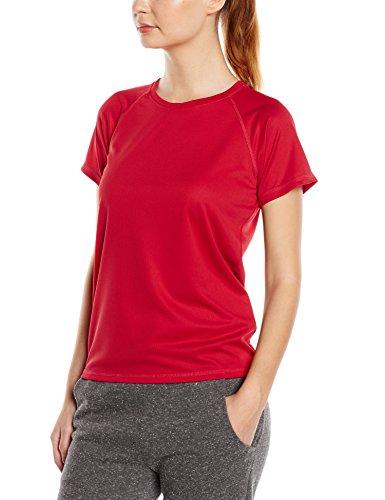 Stedman Apparel Active 140 Raglan/St8500 - T-shirt de sport - Femme Rouge - Rouge pourpre