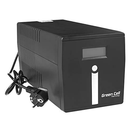 Green Cell UPS USV Unterbrechungsfreie Stromversorgung 1000VA (600W) 230V 1000VA-1999VA Approximated Sine Wave USB/RJ45 2X Schuko + 2X IEC