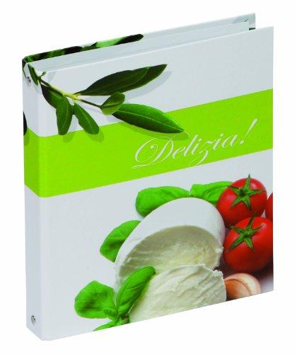 Pagna 31316-15 Rezeptringbuch A5 Olive/Tomate, laminiert, 4-Ring-Mechanik 4-teilig Kartonregister und Rezepteinlagen