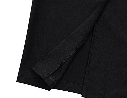 MUXXN Vintage Donna 30s 50s 60s Vestiti Ginocchio-lunghezza Partito Tubino Vestito Black