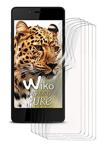 moex 5X Wiko Highway Pure | Schutzfolie Klar Bildschirm Schutz [Crystal-Clear] Screen Protector Display Handy-Folie Dünn Bildschirmschutz-Folie für Wiko Highway Pure Bildschirmfolie
