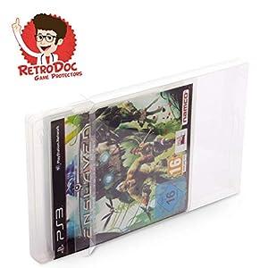 1 Stück Klarsichtschutzhülle für Playstation 3 – PS3 Box Protector – Box – Originalverpackung – Passgenau – PS4 – Blu Ray Steelbook – Glasklar – Protector – Box – Klarsicht – Schuber