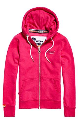 Superdry Zipper Damen ORANGE Label Primary Ziphood Hot Pink, Größe:XS Womens Primary Zip Hoody