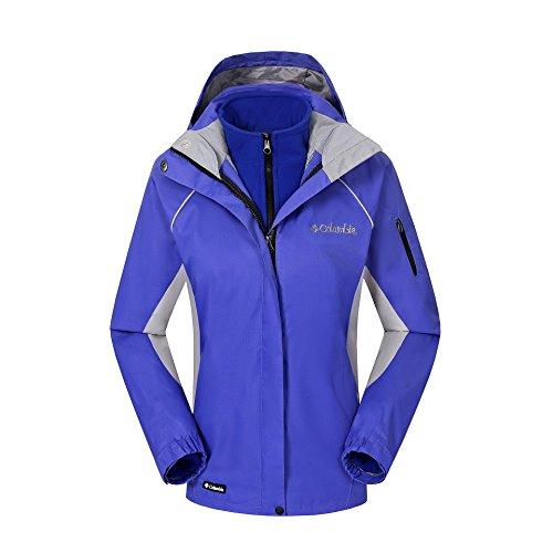 HUA&X Damen Mantel Winter Ski Jacke wasserdicht Winddicht warmen Reißverschluss Outdoor, Royal Blau, XL