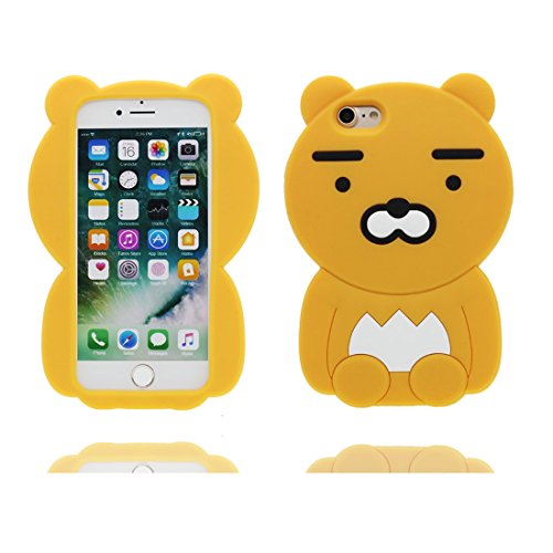 "iPhone 7 Plus Hülle, [ 3D Cartoon Pfirsich Chatting Expression ] Cover iPhone 7 Plus Handyhülle 5.5"", TPU Material stilvoll dauerhaft, Staub Rutsch kratzfest # 1"