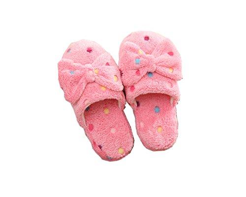 Ksweet Damen Hausschuhe Winter Plüsch Hausschuhe Pink Bowknot Pantoffeln Mädchen Slippers Home Warm Hausschuhe Girls Plüsch Lustig (37-38 asia, (Fester Zombie)