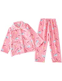 ACMEDE - Pijama para niñas y niños de manga larga, de forro polar, para