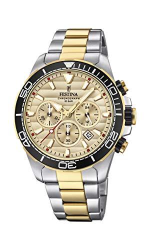 Festina Herren Chronograph Quarz Uhr mit Edelstahl Armband F20363/1