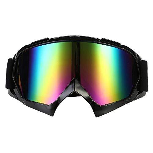 Gafas para de Motocross,MUNSTER Gafas de para de Motocross con Lente Multcolores Banda Negro