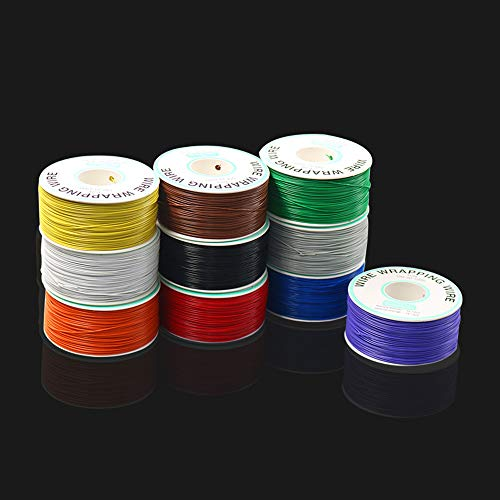 LaDicha 250M 30Awg Red/Black/Blue/Green/White/Purple/Orange Ok Line Circuit Board Flyer Wire Airline Jumper Cable Wrapping Wire - Purpurn (Black Dekorationen White-parties And)
