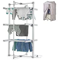 Dry:Soon 3-Tier Heated Airer & Fitting Cover Pack (Under 6p / Hour!)