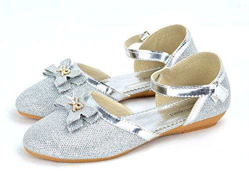 Ballerines Brillantes Colorées Pour Femmes Avec Boucle Plate Chaussures Comfort White