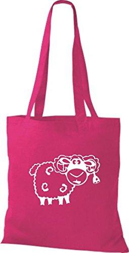 Shirtstown Pochette en tissu Animaux Mouton Mouton Rose - Fuchsia