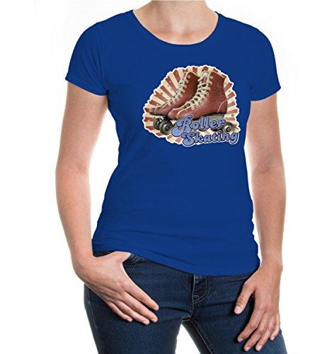buXsbaum® Girlie T-Shirt Roller Skating Royal-z-direct