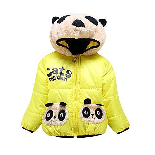 Robemon✬Hiver Blouson Manteau Chaud Enfant Fille Garçon Doudoune Capuche en Peluche Panda Oreilles Outwear Manches Longues Sport bébé Ski Vêtement