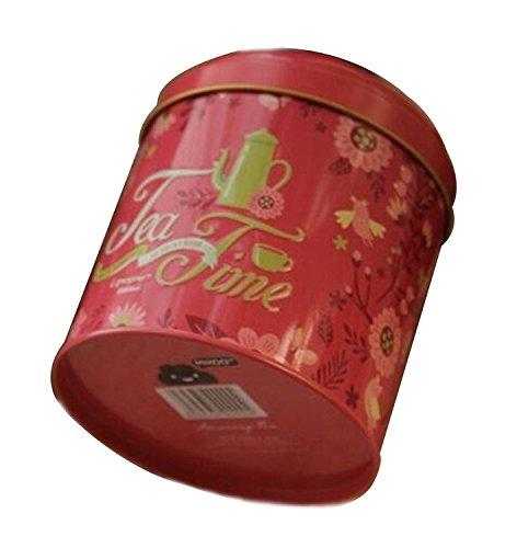 Tellw europeo floreale tè per quiche caramelle biscotti barattolo scatole,