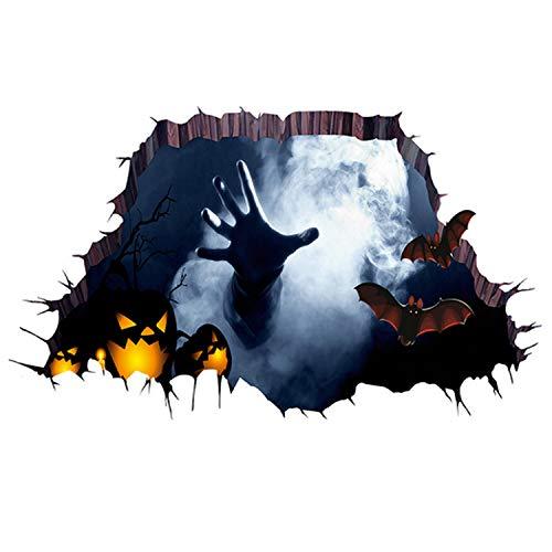Selbstklebende 3D Spooky Blutige Broken Ghost Wand Boden Aufkleber für Halloween Thema Party Spukhaus Bar Themenhotel Restaurant