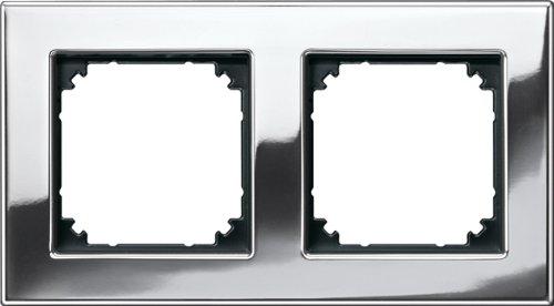 Merten 475239 M-PLAN-Metallrahmen, 2fach, Chrom -
