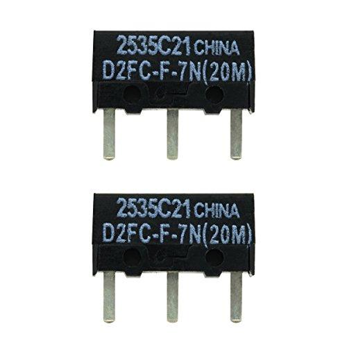 2x D2FC-F-7N(20M) Mikroschalter Reparatur-Satz / Repair-Kit passend für Mäuse von Logitech, Razer, Roccat, SteelSeries und Weitere