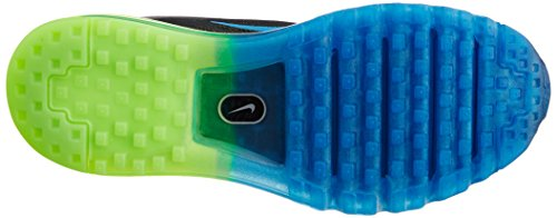 Nike Air Max 2014, Chaussures de running homme Multicolore (Blk/Pht Bl Elctrc Grn Flsh Lm)