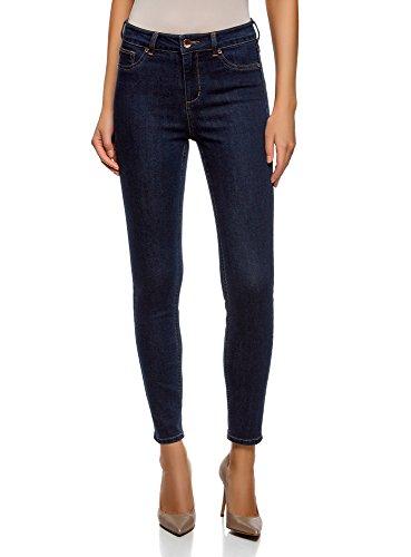 Oodji ultra donna jeans skinny a vita alta, blu, 27w / 30l (it 42 / eu 38 / s)