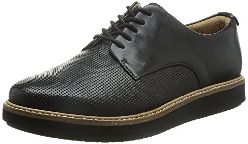 Clarks Glick Darby, Scarpe Derby con lacci donna, Nero (Black Leather), 36