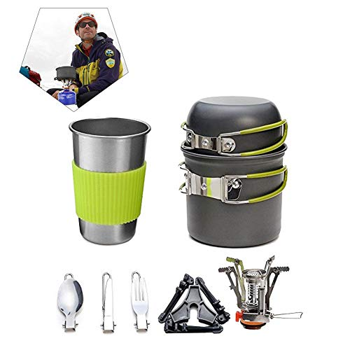createjia Wandern Kocher Pot Set – Portable Outdoor Cam… | 00888247404597