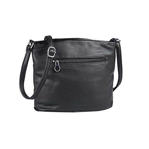 OBC Only-Beautiful-Couture, Poschette giorno donna nero Schwarz 19x25x8 cm ca.: 19x25x8 cm (BxHxT) Schwarz 19x25x8 cm