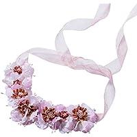 BESTOYARD Guirnalda floral nupcial del guirnalda del halo de la venda de la corona de flor para el banquete de boda del festival