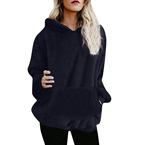 MOIKA Damen Kapuzenpullover Langarm Sale Mode Große Größe Warmer Flauschiger Winter-oberster Hoodie-Sweatshirt mit Kapuze Pullover