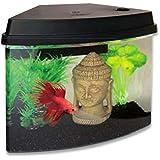 Superfish Cascade 4 Aquarium (Black) - Including LED Lights and Internal Filter