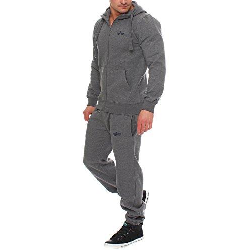 88E2 Finchman Finchsuit 1 Herren Jogging Anzug Trainingsanzug Dunkelgrau (Anzug Bekleidung)