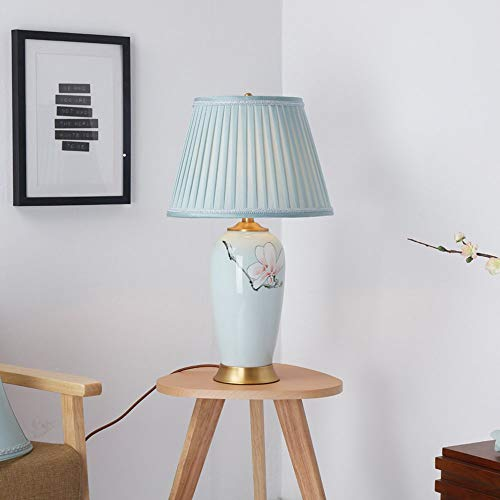 Hotel Americano Decoration Stile Lampada Lamp Table da Soggiorno E27 Camera Panno Comodino Rame Lampada Studio Accogliente Di da Ceramic QFF Di Letto J3TFKcl1