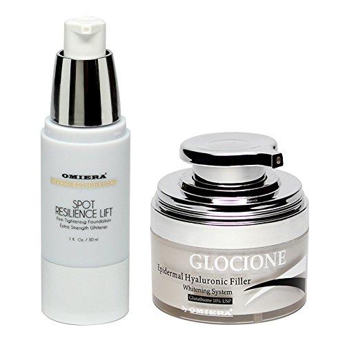 Antiarrugas Antiedad Crema Facial de Blanqueamiento Cutáneo Hidratante de Piel Conjunto de 2 Piezas por Omiera Labs