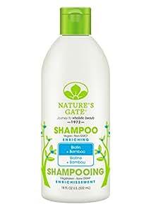 Nature's Gate Shampoo Biotin Strengthening Shampoo for Weak Fragile and Thinning Hair 18-Ounce Bottles (Pack of 3)