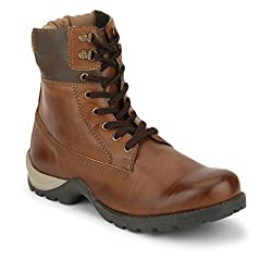 Knotty Derby Mens Tan and Chikoo Boots - 6 UK/India (40 EU)