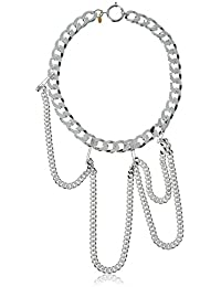 Wouters & Hendrix Women's 925 Sterling Silver Chain and Safety Pin Necklace of 42 cm