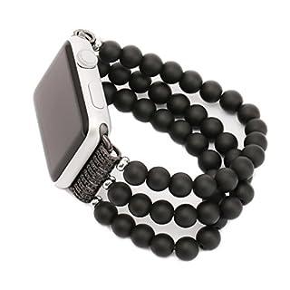 ANGGO Watch Armband Achat Uhrenarmband Elastische Stretch iwatch Strap Ersatz Armbanduhr Armband Gürtel für Apple Watch Serie 2 Serie 1 Alle Version (38mm)