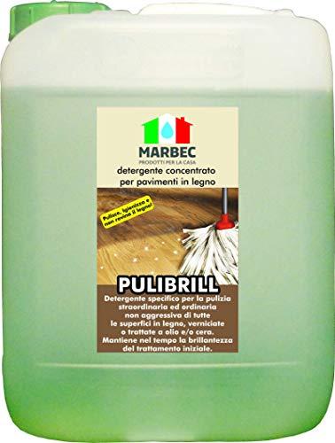Marbec - pulibrill 5lt | detergente concentrato specifico per pavimenti in legno
