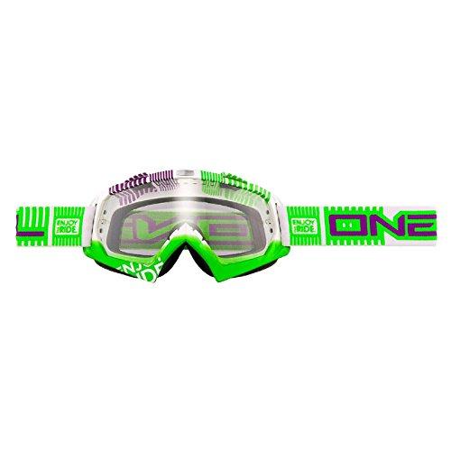 ETR Oneal B-Flex Lunettes de Motocross - White Green