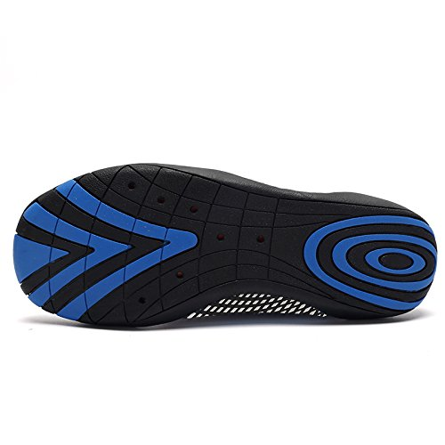 Laiwodun Uomo Donna Scarpe Acqua Scarpe Aqua Quick Dry A piedi nudi Calzature Subacquee Swim Diving con 14 fili di drenaggio color-9