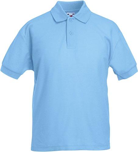 Fruit of the Loom Kinder Polo Shirt, kurzarm (5-6-jährige) (Himmelblau) 5-6-jährige,Himmelblau