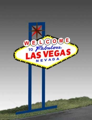 1251 Model Las Vegas Animated Lighted Sign by Miller Signs by Miller Engineering - Las Vegas Sign