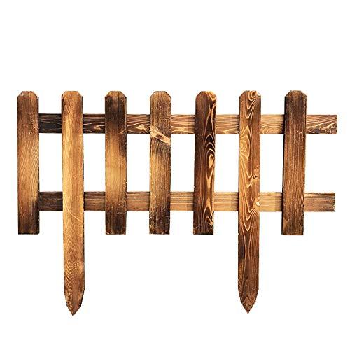6-panel-massivholz (LIXIONG Gartenzaun Lattenzaun Draussen Dekor Blumenbeet Kante Hölzern Verriegelung Panels Tier Barriere Plug-in Design, 6 Größe (Color : Brown, Size : 100x35cm))