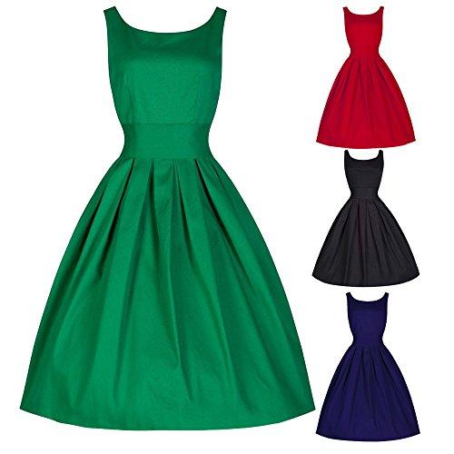 Overdose Women Dress Vintage 1950s Sleeveless Swing Evening Party Swing Dress