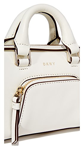 Mini Sacoche De DKNY Greenwich Cuir Crème Camel Leather